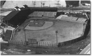 San Antonio's old Mission Stadium.  Judge Roy Hofheinz (and Colt .45's owner)  ordered the stadium closed in 1964, because he wanted his team out of San Antonio.  The '64 Bullets were the last baseball team to play at this venue